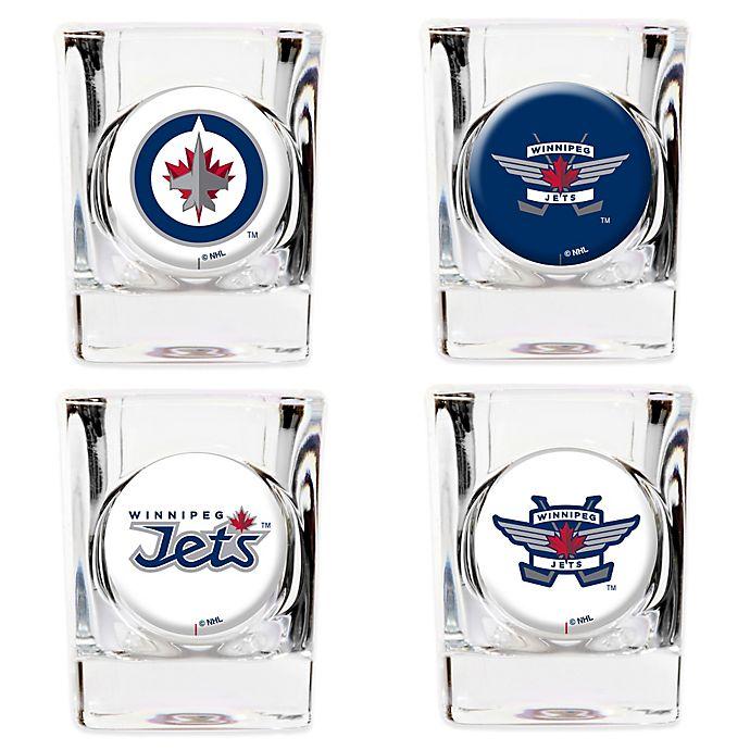 28a10eaea32 NHL Winnipeg Jets Collector's Shot Glasses (Set of 4)   Bed Bath ...