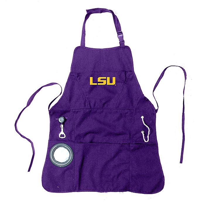 Alternate image 1 for Louisiana State University Heavy-Duty Grilling Apron