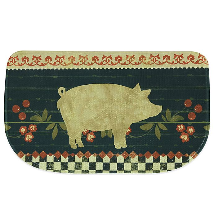 Bacova 18-Inch x 29.5-Inch Retro Pig Memory Foam Kitchen Rug | Bed ...