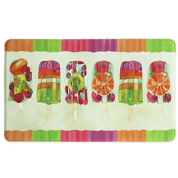 Alternate image 1 for Bacova 25-Inch x 42-Inch Popsicle II Memory Foam Kitchen Rug