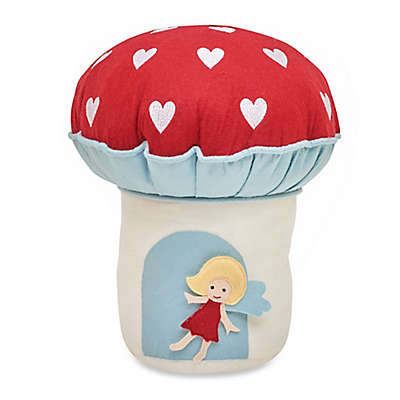 Frank and Lulu In the Garden Interactive Mushroom Throw Pillow