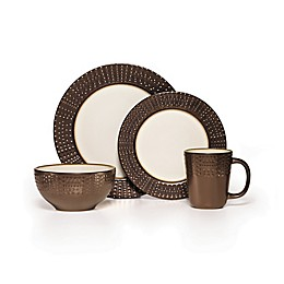 Gourmet Basics by Mikasa® Metropolitan 16-Piece Dinnerware Set in Brown