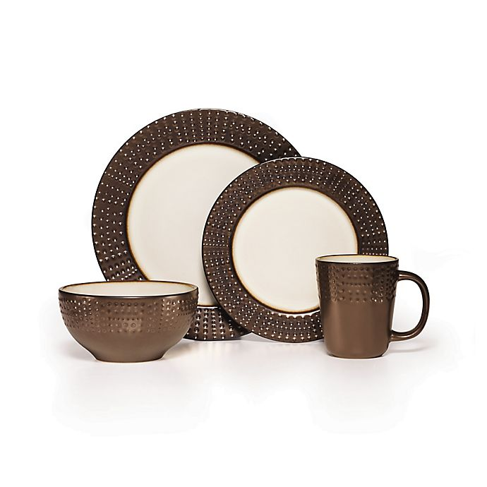 Alternate image 1 for Gourmet Basics by Mikasa® Metropolitan 16-Piece Dinnerware Set in Brown