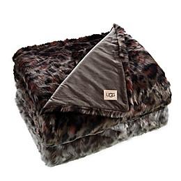 UGG® Bobcat Printed Faux Fur Throw Blanket
