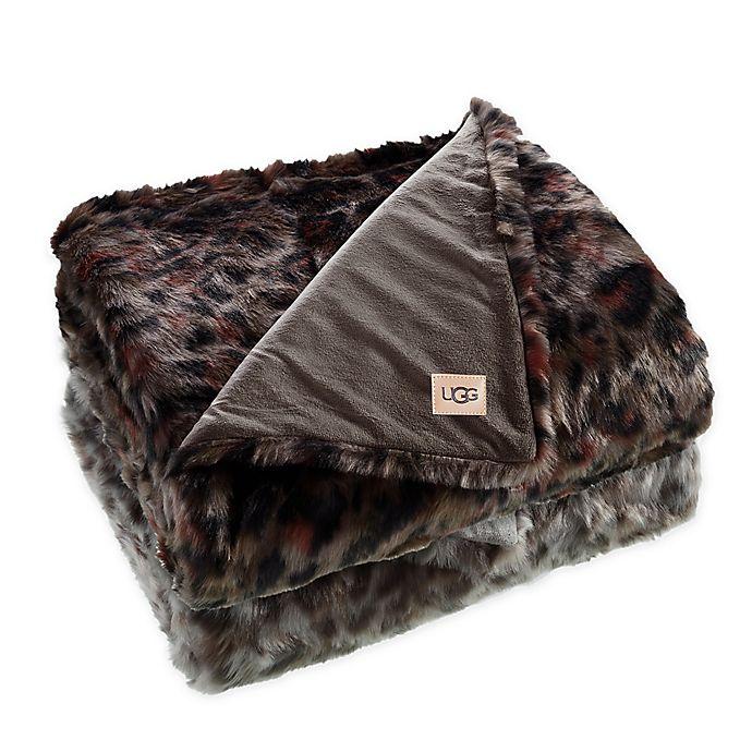 Alternate image 1 for UGG® Bobcat Printed Faux Fur Throw Blanket