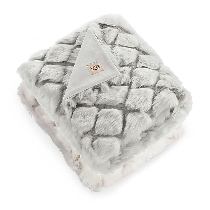 Alternate image 1 for UGG® Kaley Faux Fur Throw Blanket