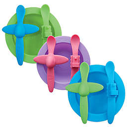 Oogaa Planes & Trains Silicone Mealtime Set