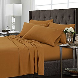 Tribeca Living Solid Twin XL Sheet Set in Black