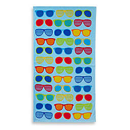 Sunglasses Print Beach Towel