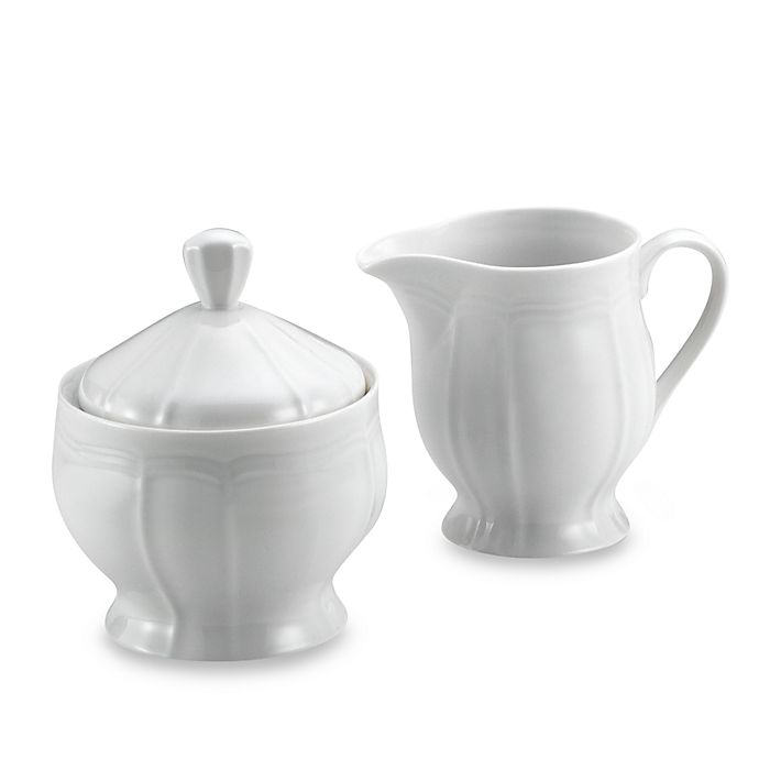 Alternate image 1 for Mikasa® Antique White Sugar and Creamer Set