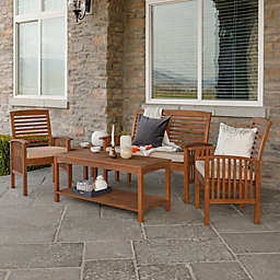 Forest Gate 5-Piece Acacia Outdoor Chat Set in Brown