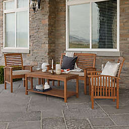 Forest Gate 6-Piece Acacia Outdoor Chat Set in Brown