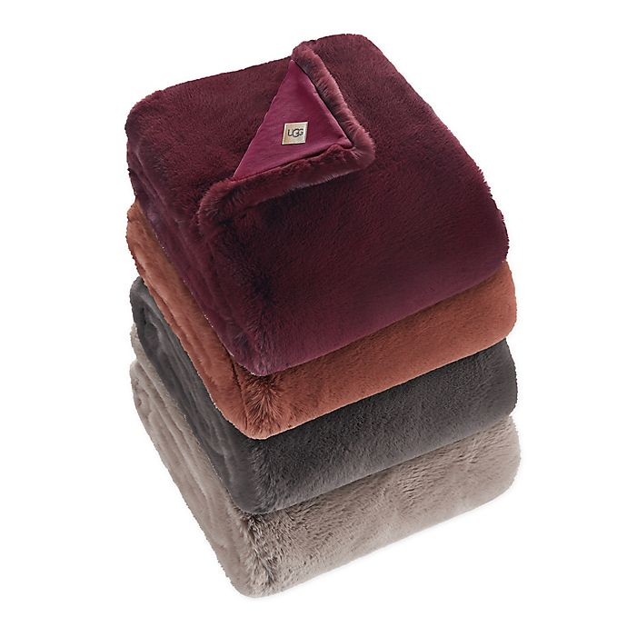 Alternate image 1 for UGG® Mammoth Faux Fur Throw Blanket