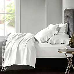Madison Park 800-Thread-Count Cotton Blend Sateen 6-Piece Sheet Set in White