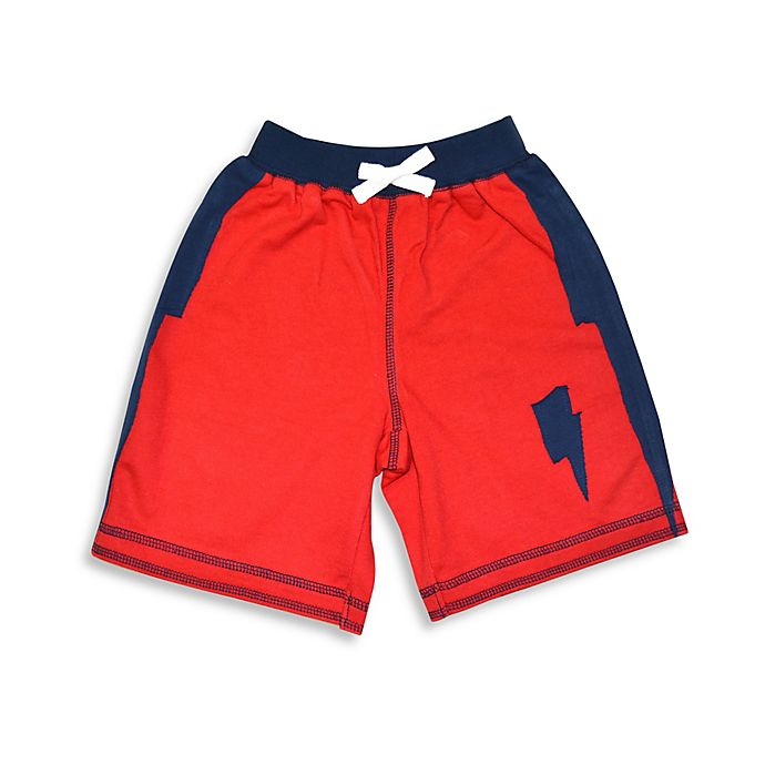 Alternate image 1 for Kapital K™ Lightning Bolt French Terry Pull-On Short in Red/Navy