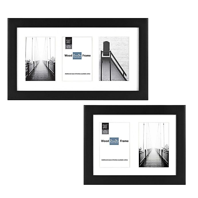 Alternate image 1 for SALT™ Gallery Multi-Photo Matted Picture Frame in Black
