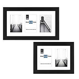 SALT™ Gallery Multi-Photo Matted Picture Frame in Black