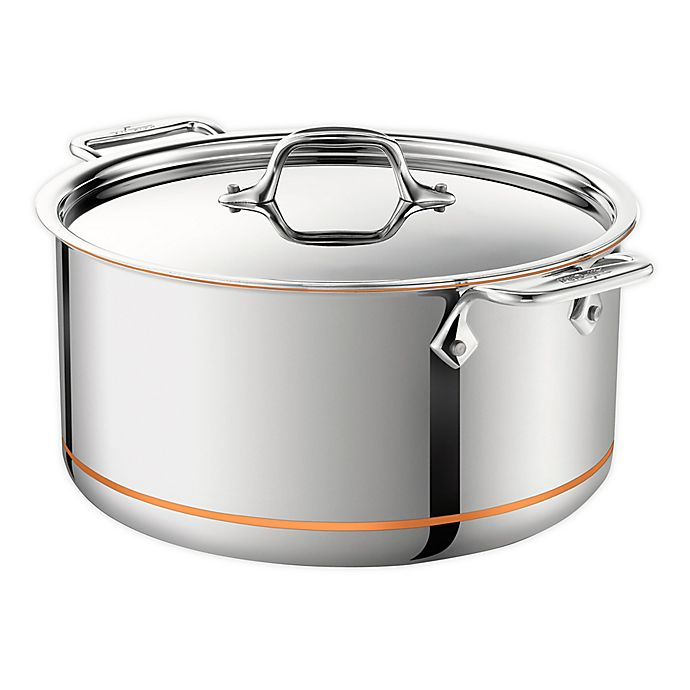 Alternate image 1 for All-Clad Copper Core® 8 qt. Covered Stock Pot