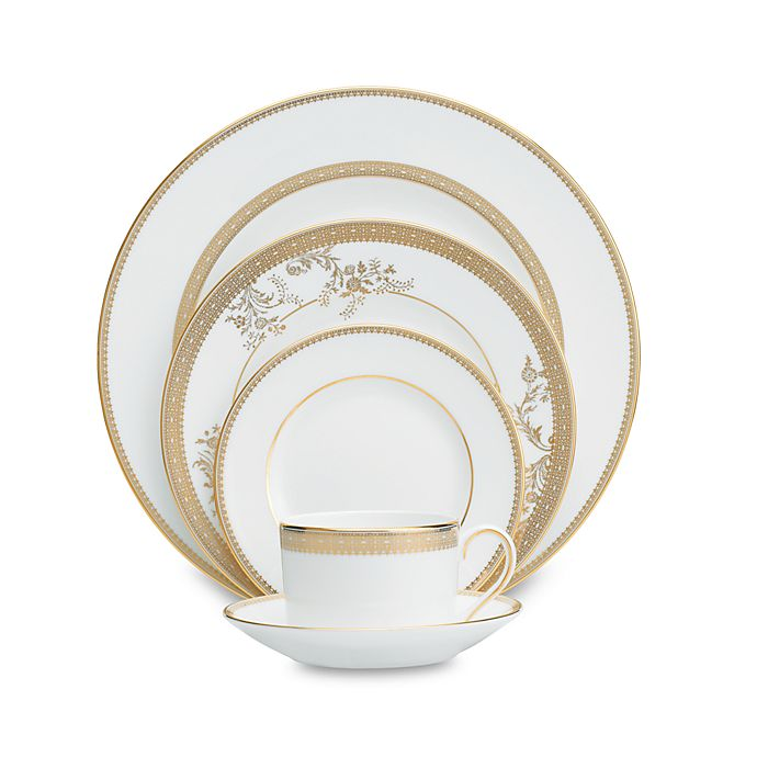 Alternate image 1 for Vera Wang Wedgwood® Lace Gold Dinnerware Collection