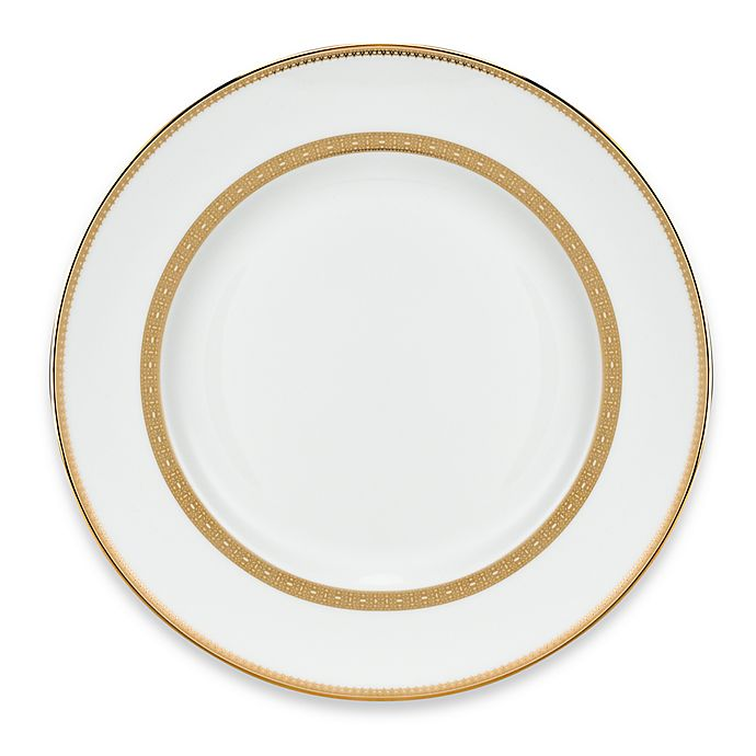 Alternate image 1 for Vera Wang Wedgwood® Lace Gold Dinner Plate