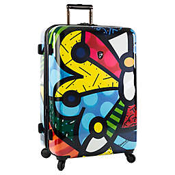 Heys® Britto Butterfly 30-Inch Hardside Spinner Checked Luggage