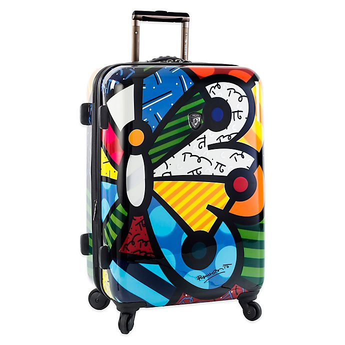 Alternate image 1 for Heys® Britto Butterfly 26-Inch Hardside Spinner Checked Luggage