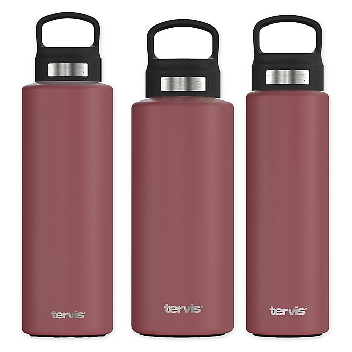 Alternate image 1 for Tervis® Wide Mouth Stainless Steel Bottle with Lid