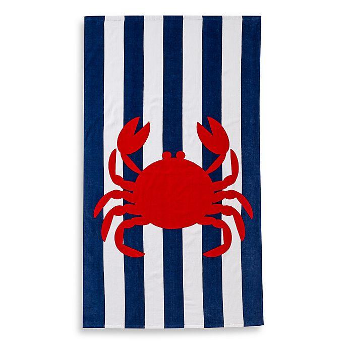 Alternate image 1 for Baltic Linen® Crab Print Beach Towel