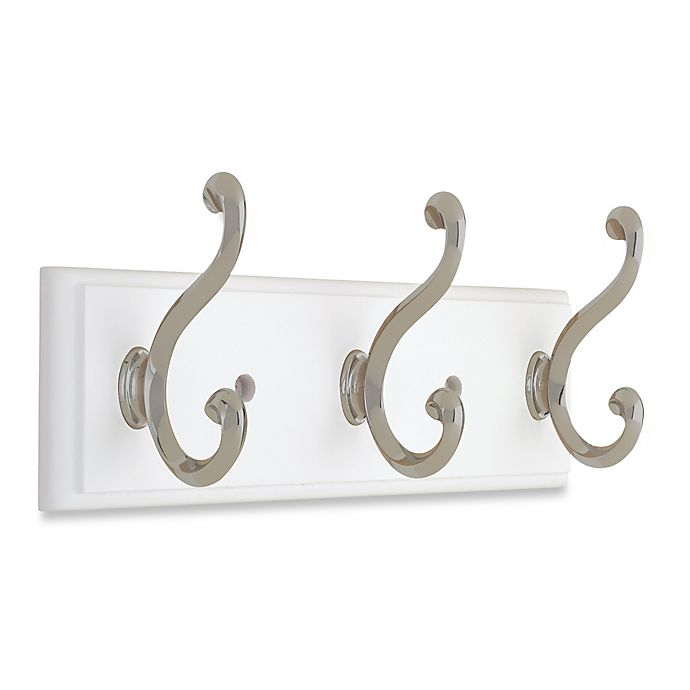 Alternate image 1 for Liberty® Contempo Pilltop Hook Rail in White/Nickel