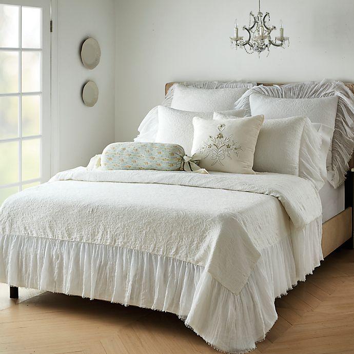 Alternate image 1 for Wamsutta® Vintage Saint Veran 2-Piece Bedspread Set in Bright White