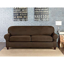 Sure Fit® Vintage Faux Leather Furniture Slipcovers | Bed ...