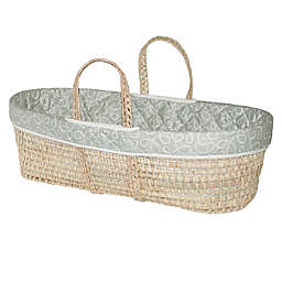 Jolly Jumper® Swirl Quilted Moses Basket in Grey/White