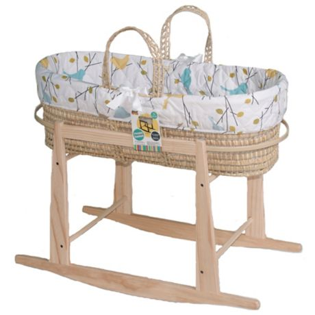 111c0fc85eb Jolly Jumper® Baby Birdies Quilted Moses Basket