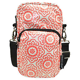 Diapees & Wipees® Laminated Hipster Bag in Cherry Medallion