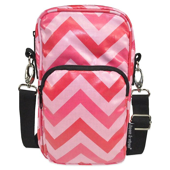 Alternate image 1 for Diapees & Wipees® Laminated Hipster Bag in Pink Chevron