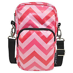 Diapees & Wipees® Laminated Hipster Bag in Pink Chevron