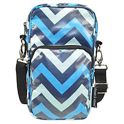Diapees & Wipees® Laminated Hipster Bag in Blue Chevron