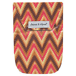 Diapees & Wipees® Laminated Storage Bag with Wipes Case in iKat Chevron