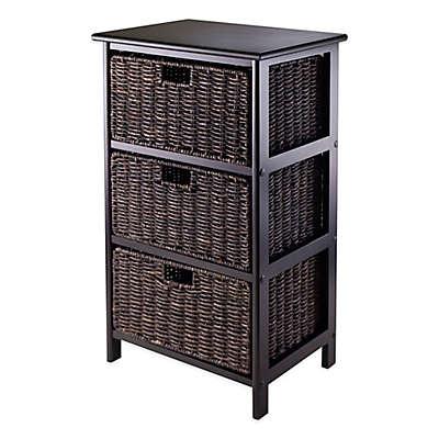 3 Basket Drawer Bathroom Storage Unit Cabinet shelving & storage units - fabric basket, craft storage rack & more