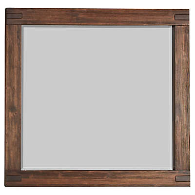 Modus Furniture Meadow 38-Inch x 48-Inch Rectangular Wall Mirror in Brick Brown