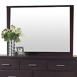 Modus Furniture Nevis Landscape 36-Inch x 50-Inch Rectangular Wall Mirror in Espresso