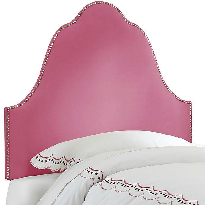 Alternate image 1 for Skyline Furniture Arch Nail Button Twin Headboard in Velvet Bling