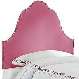 Skyline Furniture Arch Nail Button Headboard in Velvet Bling