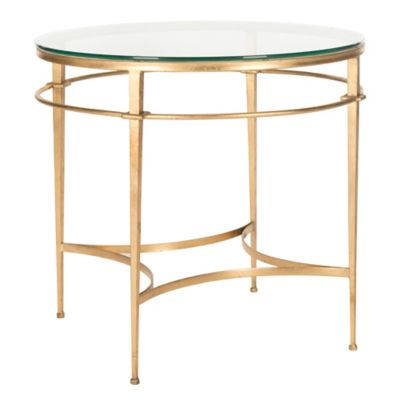 Safavieh Ingmar Round Side Table In Gold Bed Bath Amp Beyond