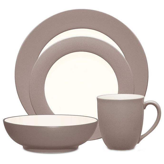 Alternate image 1 for Noritake® Colorwave Rim 4-Piece Place Setting in Clay