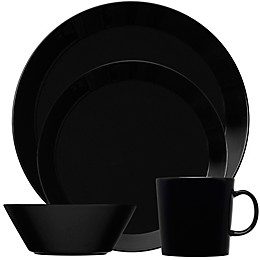 Iittala Teema Dinnerware Collection in Black