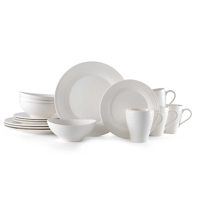 Alternate image 1 for Mikasa® Ryder 16-Piece Dinnerware Set in White