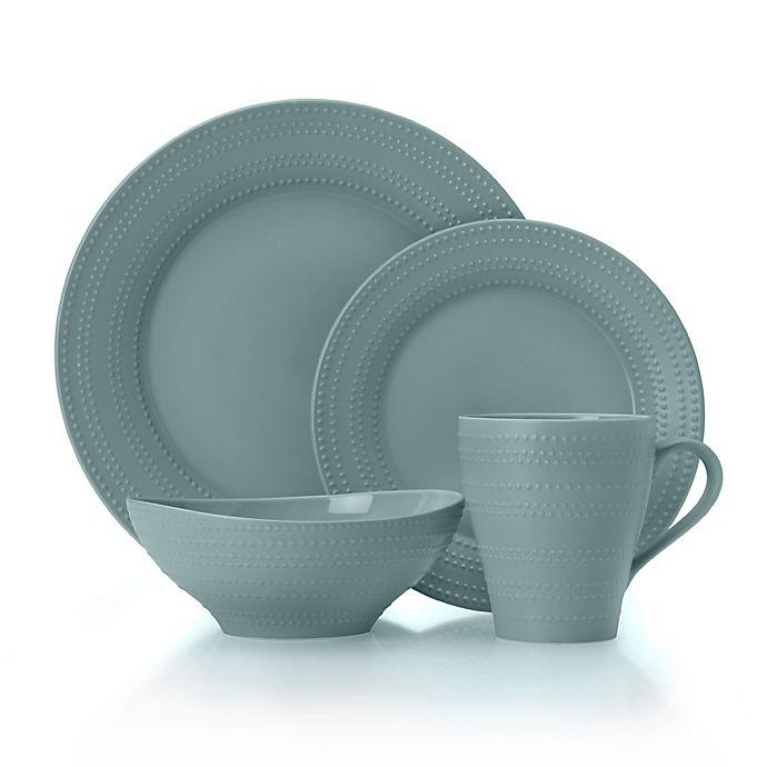 Alternate image 1 for Mikasa® Ryder 4-Piece Dinnerware Set in Blue