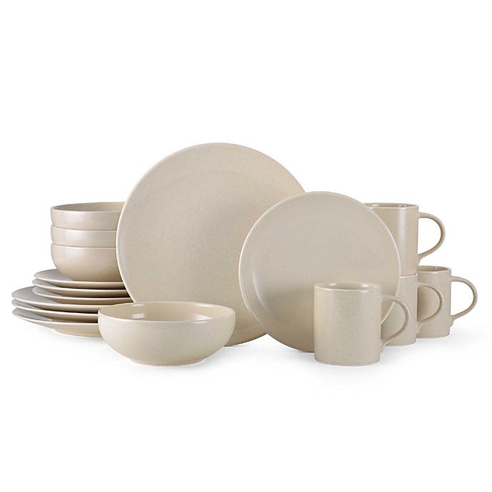 Alternate image 1 for Mikasa® Benson 16-Piece Dinnerware Set in Beige