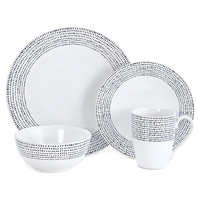 Alternate image 1 for Mikasa® Daylen 4-Piece Place Setting in Cobalt